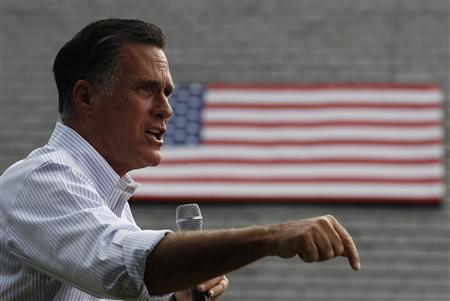 U.S. Republican Presidential candidate Mitt Romney speaks at a campaign event at the Cornwall Iron Furnace in Cornwall, Pennsylvania, June 16, 2012. REUTERS/Larry Downing