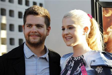 Director Jack Osbourne and his sister Kelly pose at a private preview of the documentary ''God Bless Ozzy Osbourne'' at the Arclight Cinerama Dome in Hollywood, California August 22, 2011. REUTERS/Mario Anzuoni