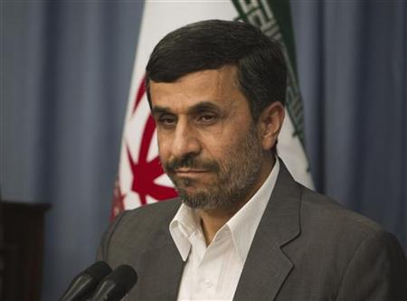 Iranian President Mahmoud Ahmadinejad looks on while attending a meeting with Egyptian experts in Tehran June 1, 2011. REUTERS/Morteza Nikoubazl