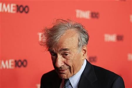 Writer and Nobel Peace Prize laureate Elie Wiesel arrives as a guest for ''Time Magazine's 100 Most Influential People in the World'' gala in New York May 4, 2010. REUTERS/Lucas Jackson