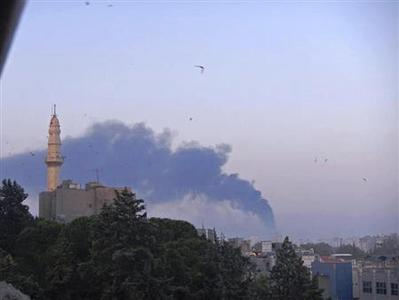 Smoke rises from the Baba Amr neighbourhood of Homs June 19, 2012. REUTERS/Shaam News Network/Handout