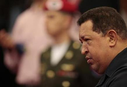 Venezuela's President Hugo Chavez attends a Council of Ministers at Miraflores Palace in Caracas June 15, 2012. REUTERS/Miraflores Palace/Handout