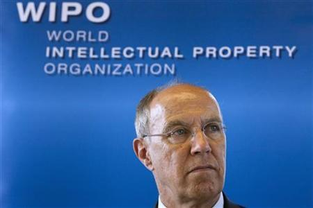 Francis Gurry, Director General of the World Intellectual Property Organisation (WIPO) attends a news conference to discuss the evolution of the film industry in the digital environment and address the challenges of copyright at WIPO headquarters in Geneva July 19, 2011. REUTERS/Valentin Flauraud/Files