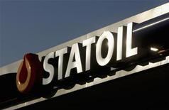 A logo of Statoil is pictured at a petrol station in Warsaw February 5, 2012. REUTERS/Kacper Pempel