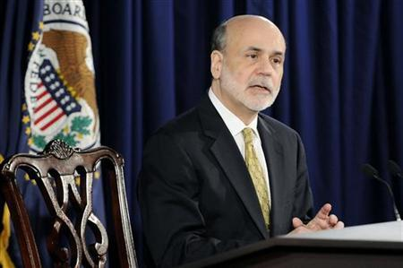 U.S. Federal Reserve Chairman Ben Bernanke answers questions during a news conference at the Federal Reserve in Washington, June 20, 2012. REUTERS/Jonathan Ernst