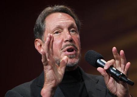 Oracle CEO Larry Ellison gestures during his keynote address at Oracle Open World in San Francisco, California September 22, 2010. REUTERS/Robert Galbraith