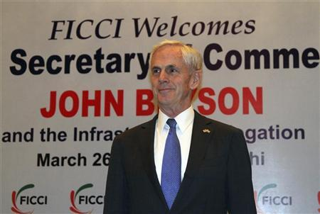 John Bryson attends a business conference organised by the Federation of Indian Chambers of Commerce and Industry (FICCI) in New Delhi March 26, 2012. REUTERS/B Mathur