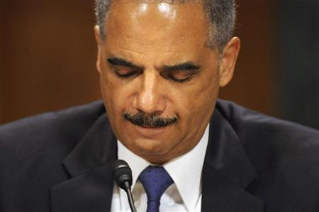 U.S. Attorney General Eric Holder listens to a question as he testifies before the Senate Judiciary Committee on Capitol Hill in Washington June 12, 2012. REUTERS/Jonathan Ernst