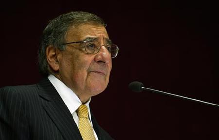 U.S. Secretary of Defense Leon Panetta delivers a speech at the Institute for Defense Studies and Analysis in New Delhi, India, June 6, 2012. REUTERS/Jim Watson/Pool