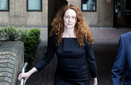 Former News International chief executive Rebekah Brooks leaves Southwark Crown Court in central London June 22, 2012. REUTERS/Neil Hall