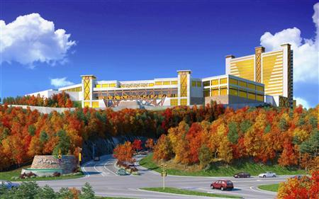 The proposed Mohegan Sun casino in Palmer, Massachusetts, is seen in this undated artist's rendering released to Reuters on June 20, 2012. REUTERS/Courtesy of Mohegan Sun/Handout