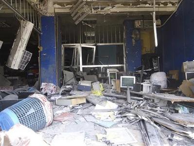 Debris is seen at Al Qussoor area in Homs city June 20, 2012. Picture taken June 20, 2012. REUTERS-Shaam News Network-Handout