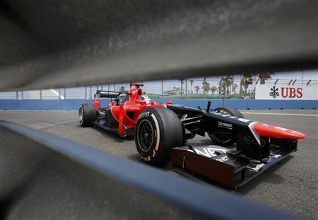 Marussia Formula One driver Timo Glock of Germany drives during the second practice session of the European F1 Grand Prix at the Valencia street circuit June 22, 2012. REUTERS/Albert Gea