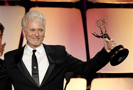 Actor Anthony Geary accepts the Emmy for Lead Actor in a Drama Series for his role in the television series ''General Hospital'' at the 39th Daytime Emmy Awards in Beverly Hills, California June 23, 2012. REUTERS/Mario Anzuoni