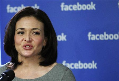 Facebook's Chief Operating Officer (COO) Sheryl Sandberg speaks to the media during a news conference at the Facebook office in New York December 2, 2011. REUTERS/Eduardo Munoz