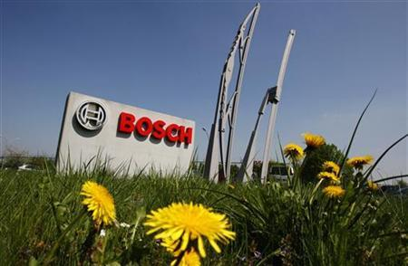 View of the entrance of German automotive parts manufacturer Robert Bosch Belgian plant in Tienen April 21, 2009. REUTERS/Thierry Roge