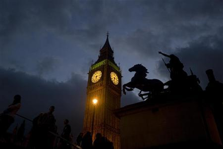 A view of Big Ben and Queen Boudica's statue in London March 10, 2012. REUTERS/Kieran Doherty