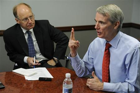 U.S. Senator Rob Portman (R-OH) gestures as he responds to a question during the Reuters Washington Summit in Washington, June 26, 2012. REUTERS/Jonathan Ernst