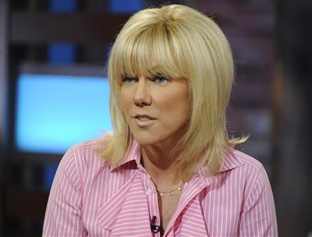 Rielle Hunter talks about her relationship with former U.S. Senator and presidential candidate John Edwards, on GOOD MORNING AMERICA in New York, June 26, 2012. REUTERS/Ida Mae Astute/ABC/ Handout