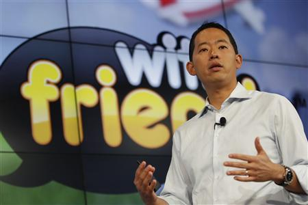 Zynga Chief Mobile Officer David Ko speaks during the Zynga Unleashed event at the company's headquarters in San Francisco, California June 26, 2012. REUTERS/Stephen Lam