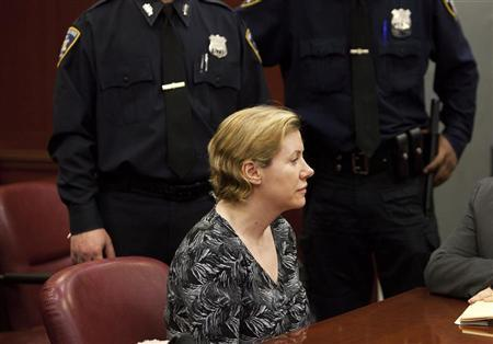 Anna Gristina, who has been charged with promoting prostitution, appears in State Supreme Court in New York March 15, 2012. REUTERS/Andrew Kelly