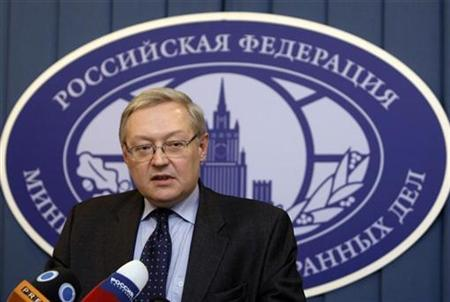 Russia's Deputy Foreign Minister Sergei Ryabkov speaks during a news briefing in the main building of Foreign Ministry in Moscow, December 15, 2008. REUTERS/Denis Sinyakov