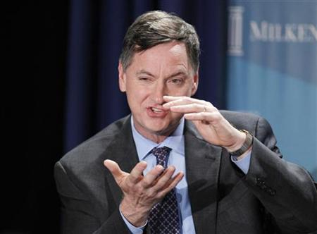 Charles Evans, President and CEO, Federal Reserve Bank of Chicago, takes part in a panel discussion titled ''Twist and Shout: The Limits of U.S. Monetary Policy'' at the Milken Institute Global Conference in Beverly Hills, California May 1, 2012. REUTERS/Danny Moloshok