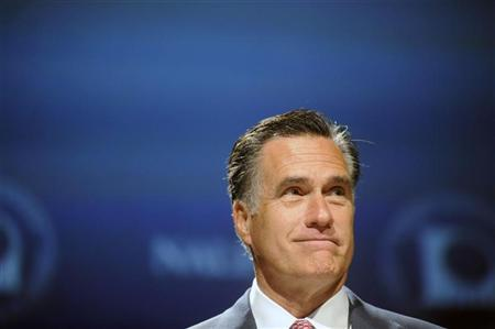 Republican presidential candidate Mitt Romney addresses the National Association of Latino Elected and Appointed Officials Annual Conference at the Walt Disney World Resort in Lake Buena Vista, Florida, June 21, 2012. REUTERS/David Manning
