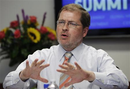 Grover Norquist, founder of the taxpayer advocacy group, Americans for Tax Reform (ATR), attends the Reuters Washington Summit in Washington June 27, 2012. REUTERS/Yuri Gripas