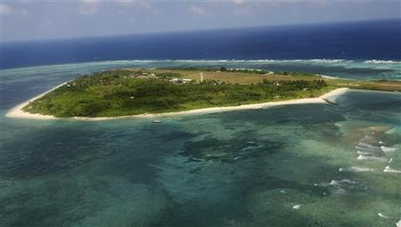 An aerial view shows the Pagasa (Hope) Island, part of the disputed Spratly group of islands, in the South China Sea located off the coast of western Philippines July 20, 2011. REUTERS/Rolex Dela