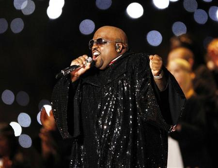Cee Lo Green performs with Madonna performs during the halftime show in the NFL Super Bowl XLVI football game in Indianapolis, Indiana, February 5, 2012. REUTERS/Mike Segar