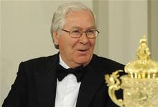 Mervyn King, the Governor of the Bank of England smiles before he speaks at the Mansion House Banquet in the City of London June 14, 2012. REUTERS/Paul Hackett