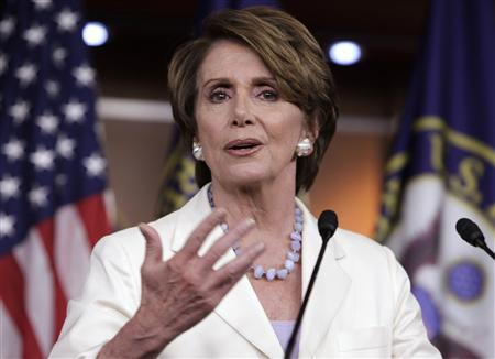 U.S. House Minority Leader Nancy Pelosi (D-CA) speaks during news conference on President Barack Obama's signature healthcare law on Capitol Hill in Washington June 28, 2012. REUTERS/Yuri Gripas