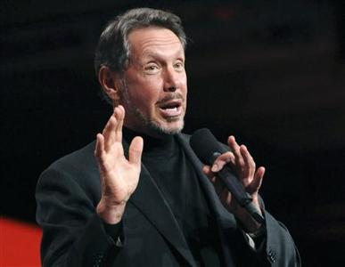 Oracle CEO Larry Ellison delivers the keynote address at the 29th Oracle OpenWorld in San Francisco in this October 2, 2011 file photo. REUTERS/Susana Bates/Files