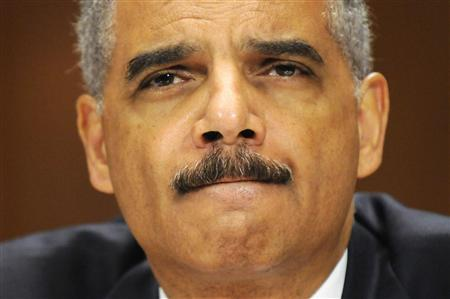 U.S. Attorney General Eric Holder testifies before the Senate Judiciary Committee on Capitol Hill in Washington in this June 12, 2012, file photo. REUTERS/Jonathan Ernst/Files
