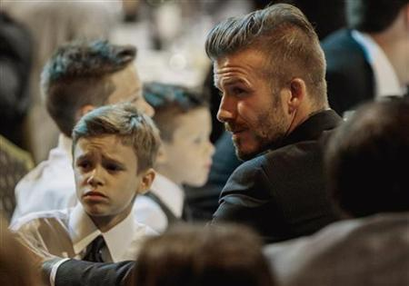 Soccer star David Beckham attends the 27th Anniversary Sports Spectacular benefiting Cedars-Sinai Medical Genetics Institute in Los Angeles, California May 20, 2012. REUTERS/Bret Hartman