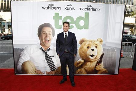 Cast member Mark Wahlberg poses at the premiere of ''Ted'' at the Grauman's Chinese theatre in Hollywood, California June 21, 2012. The movie opens in the U.S. on June 29. REUTERS/Mario Anzuoni