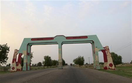 A view of the city gate to Maiduguri in Nigeria's northeastern state of Borno June 28, 2011. REUTERS/Afolabi Sotunde