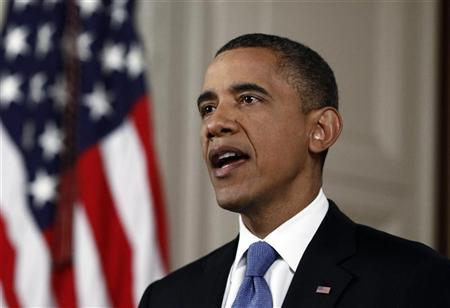 U.S. President Barack Obama makes a statement about the Supreme Court's decision on his Administration's health care law in the East Room of the White House in Washington, June 28, 2012. REUTERS/Luke Sharrett
