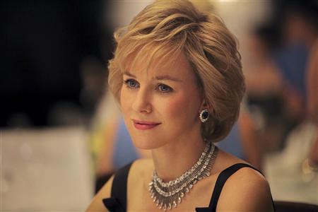 Actress Naomi Watts is seen portraying Princess Diana in a photograph released by movie company Ecosse films in London, July 4, 2012. Ecosse announced that they starting filming a biopic of the late Royal with Naomi Watts playing the lead role directed by Oliver Hirschbiegel. REUTERS/Handout/Laurie Sparham/Ecosse Films