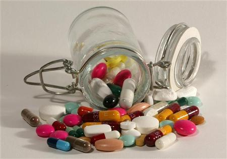 File photo illustration of pills of all kinds, shapes and colours, March 2003. REUTERS/Jacky Naegelen/Files