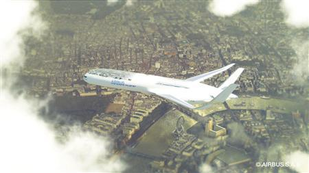 An artist's rendering of the Airbus concept plane making its descent into London in seen in this undated handout received by Reuters July 6, 2012. REUTERS/Airbus Press Library/Handout