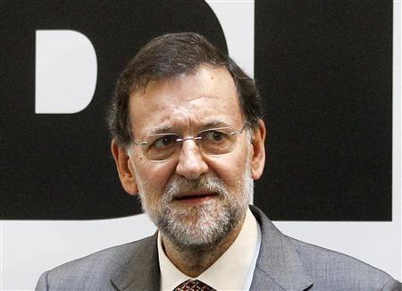 Spanish Prime Minister Mariano Rajoy attends the inauguration of the Inter American Development Bank in Madrid July 6, 2012. REUTERS/Andrea Comas