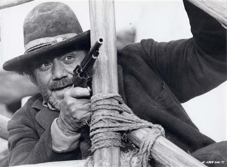 Actor Ernest Borgnine is shown in a scene from his 1971 film ''Hannie Caulder'' in this undated publicity photograph. REUTERS/Paramount Pictures/Handout