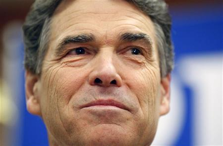 Texas Governor Rick Perry announces he is dropping his run for the Republican U.S. presidential nomination during a news conference in Charleston, South Carolina January 19, 2012. REUTERS/Chris Keane