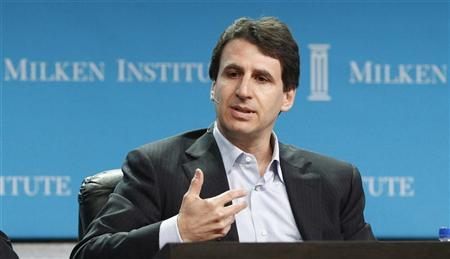 Marc Rowan, co-founder and senior managing director of Apollo Global Management LLC, takes part in a panel discussion titled ''Credit Markets'' at the Milken Institute Global Conference in Beverly Hills, California May 1, 2012. REUTERS/Mario Anzuoni