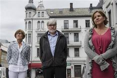 Gro Braekken (L), head of the Norwegian oil industry association (OLF), Leif Sande, leader of Industri Energi and Norway's Minister of Labour Hanne Bjurstrom, who has asked for parties of the conflict within the oil sector to return to the negotiating table, are pictured after their meeting in Oslo in this picture taken on July 6, 2012 and released to Reuters on July 9, 2012. REUTERS/Aleksander Andersen / NTB scanpix