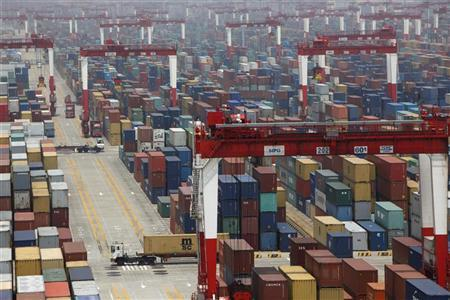 A general view of a shipping container area at Yangshan Port of Shanghai May 11, 2012. REUTERS/Aly Song