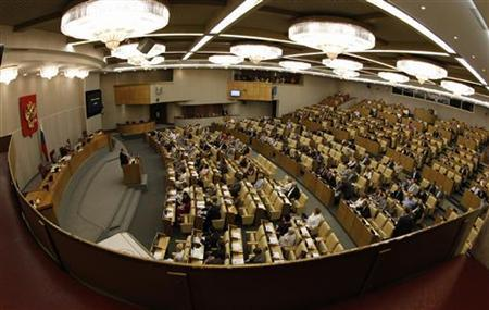 A general view of the Duma, Russia's lower house of parliament, in session is seen at Moscow July 10, 2012. REUTERS/Sergei Karpukhin