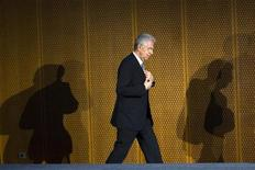 <p>Le président du Conseil italien Mario Monti. Selon le FMI, l'Italie doit continuer d'avancer sur la voie des réformes économiques engagées par Mario Monti depuis son arrivée au pouvoir. /Photo prise le 13 juin 2012/REUTERS/Thomas Peter</p>